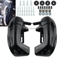 New Unpainted Black Lower Vented Leg Fairing Glove Box For Harley Road King Tour Electra Glide FLHR FLHT