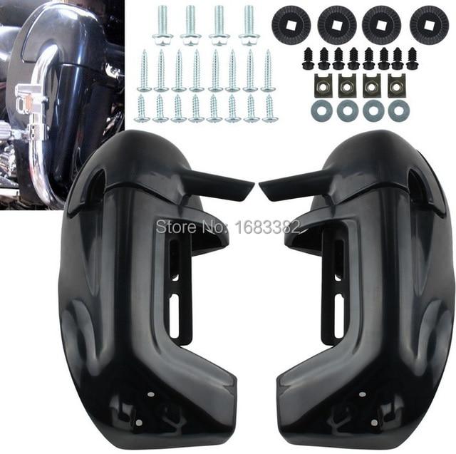 Nouvelle boîte à gants de carénage de jambe inférieure ventilée noire non peinte pour Harley Road King Tour Electra Glide FLHR FLHT