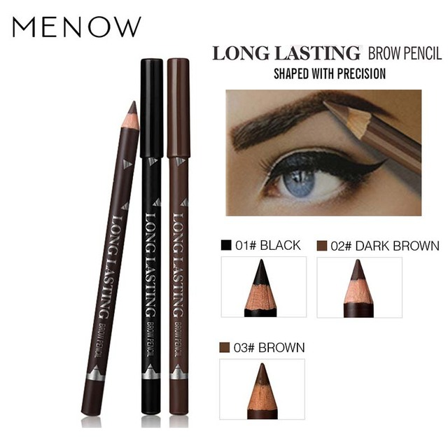 New Makeup MENOW Brand Long Lasting Waterproof Eyebrow Pencils Easy to Wear Black Brown Paint Eye Brow Brand Maquiagem 1