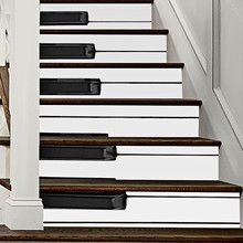 6pcs DIY 3D Stair Tile Stickers Piano Key Stair Stickers Waterproof Wallpaper Home Decorations Wall Sticker 7.1 X 39.4 Inch(China)