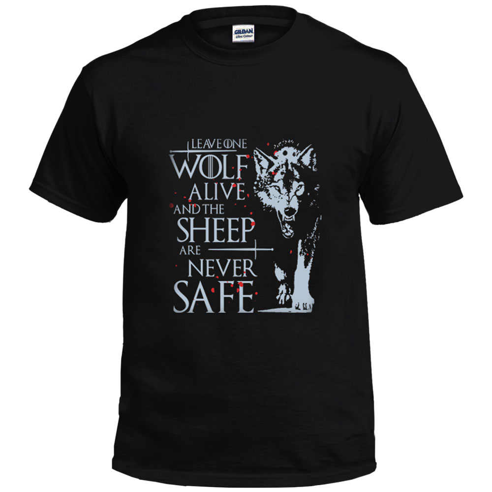 Game of Thrones T Shirt House Stark of Winterfell Shirt Tees Men Summer O-neck Short Sleeve T-Shirts Cotton Shirts