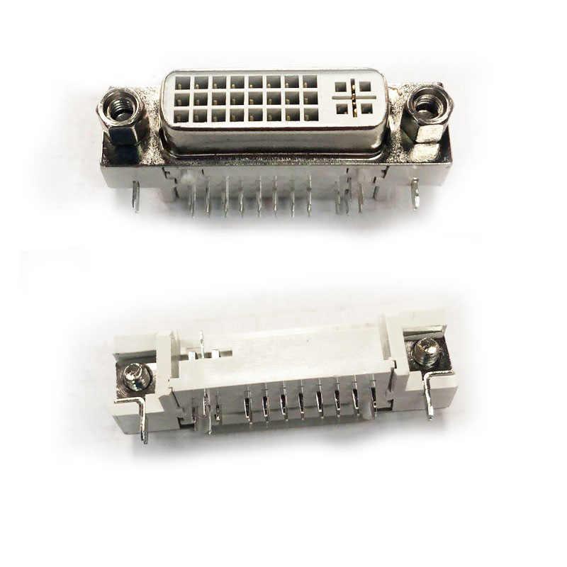 100 Pcs DVI 29Pin UNTUK PCB 90 Derajat Konektor Perempuan 24 + 5 Pin Soket Perempuan/Plug/jack untuk Video Audio Display