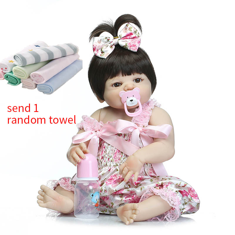 NPK 57 cm Reborn bébé poupées Simulation douce poupée bébé Silicone Reborn bébé poupées tout-petits Reborn bébé poupée jouets pour les filles