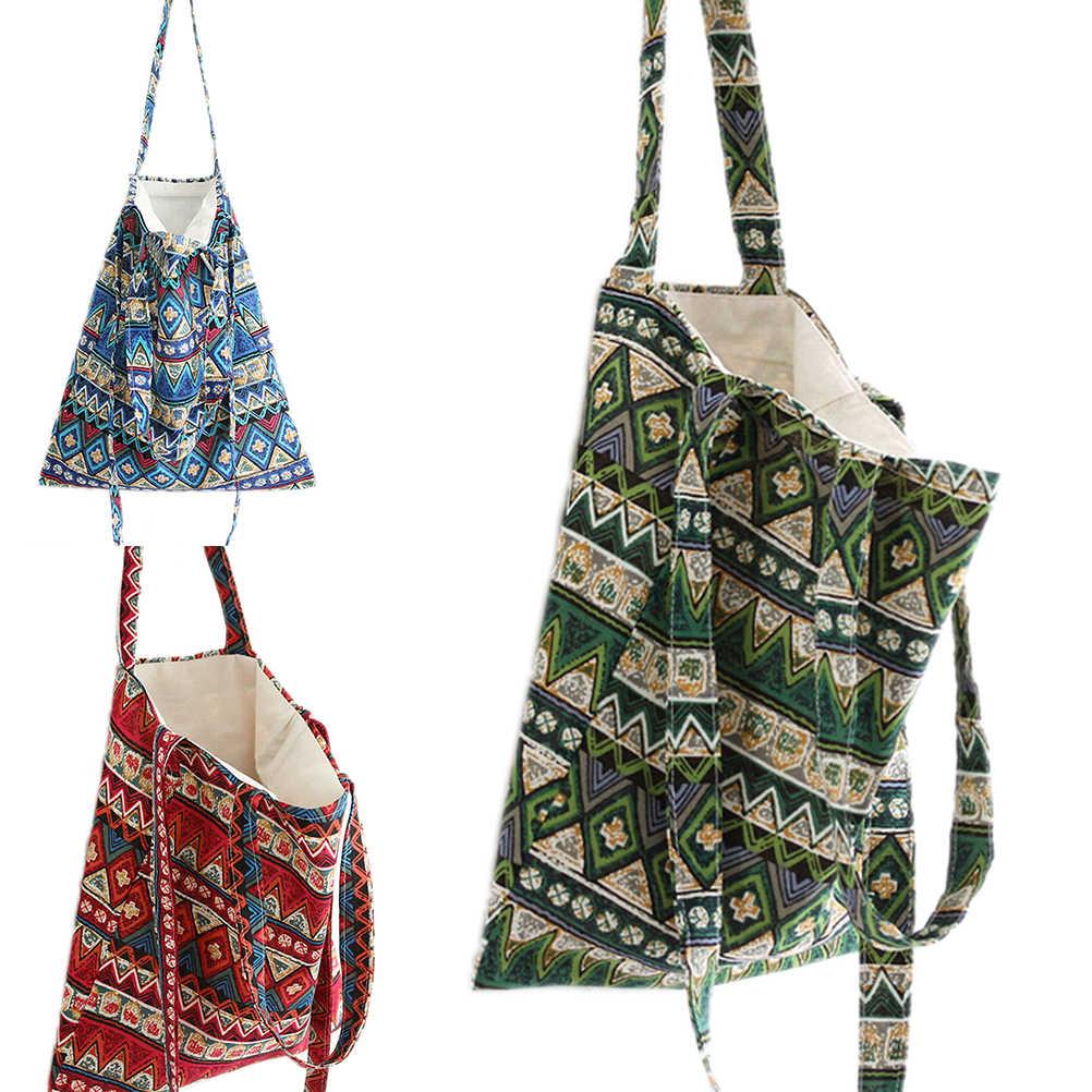 dcb810809c51 Летняя Пляжная сумка бохо открытая льняная хлопковая богемная сумка через  плечо сумка