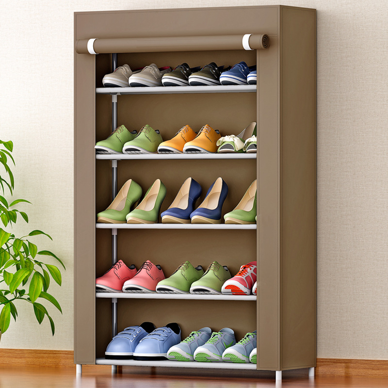 Shoe cabinet 5-layer 5-grid Non-woven fabrics large shoe rack organizer removable shoe storage for home furniture