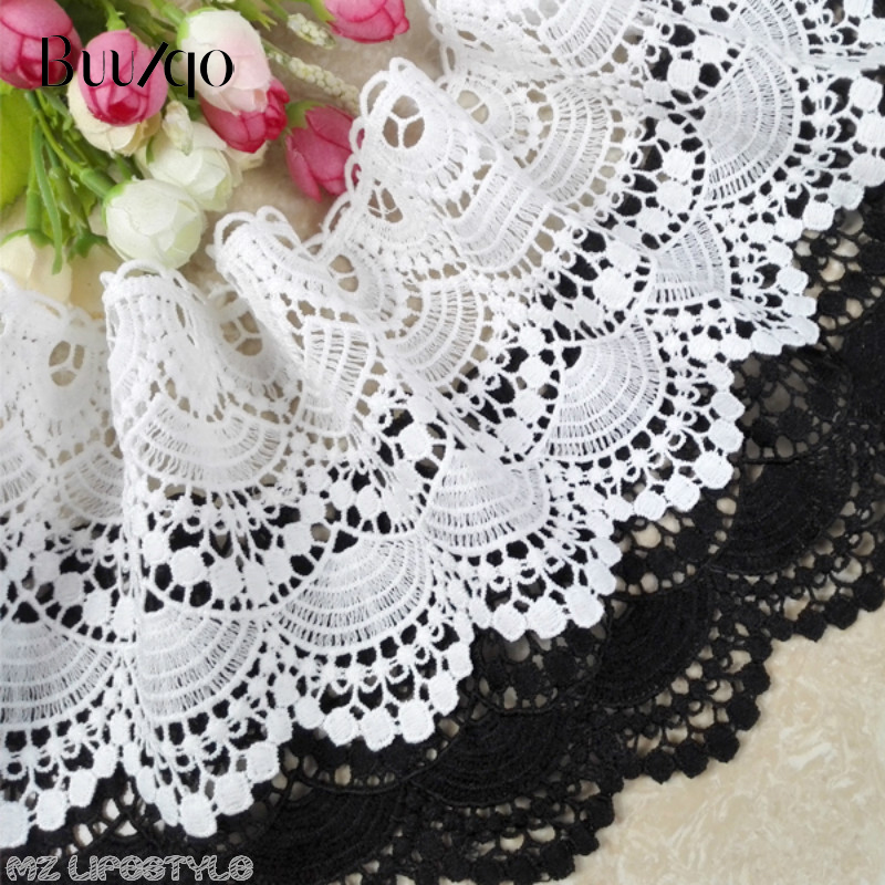Lucia Crafts Black Lace embroidery Trim Ribbon DIY Garment Hair Accessories embr