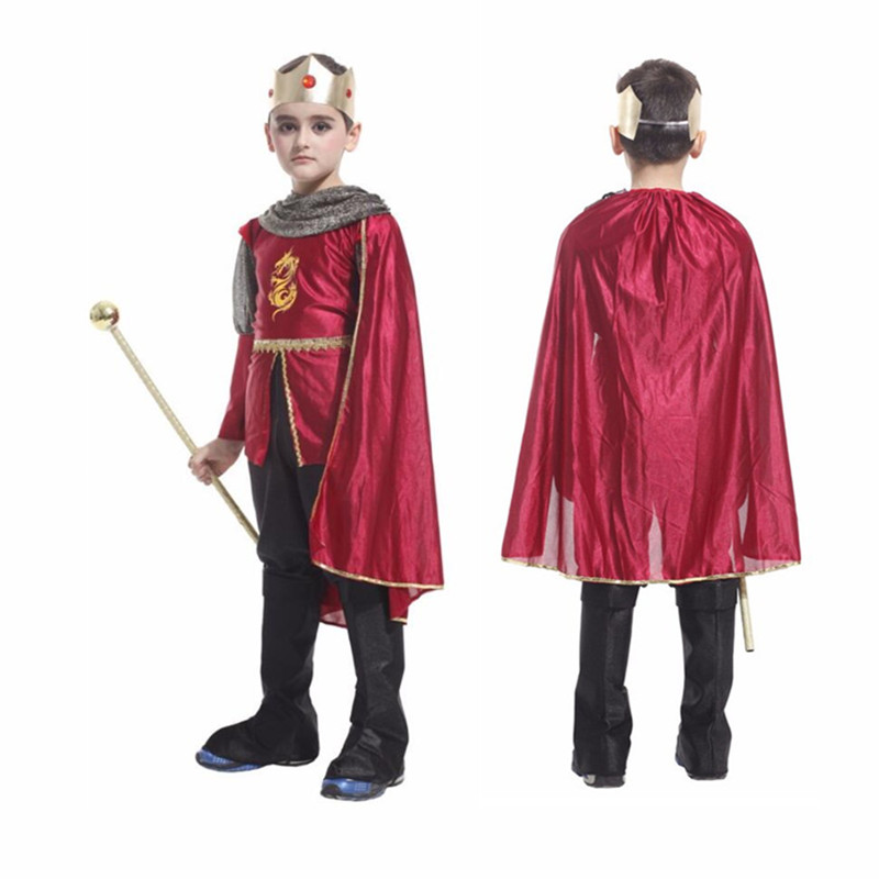 Ancient rome King Prince costumes children cosplay costume roman warrior kids roman soldier boys halloween cosplay clothing