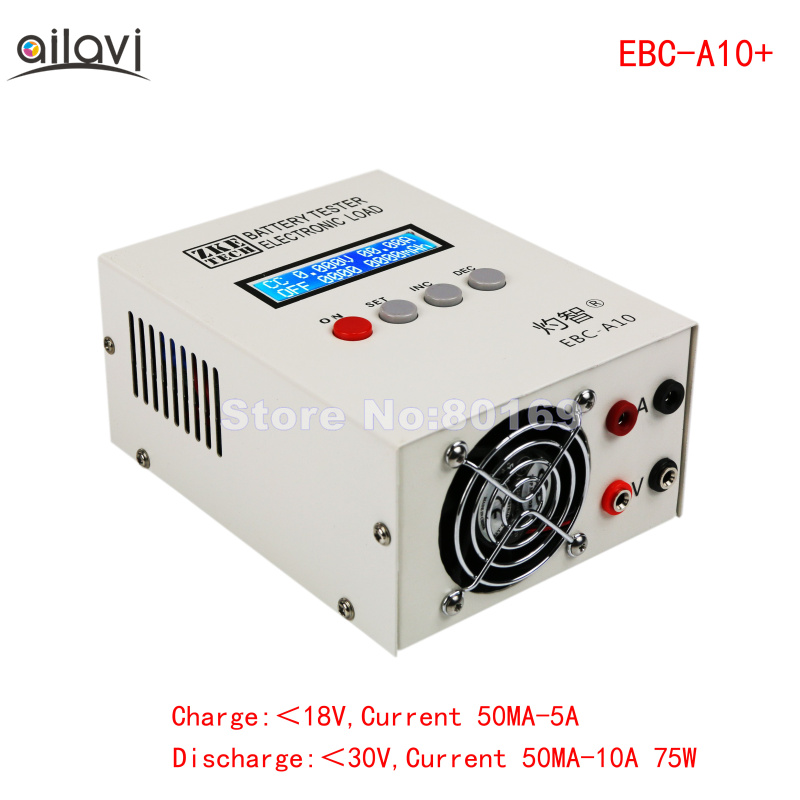 EBC-A10+ Battery Capacity Tester Electronic Load Power Supply Tester Charge and Discharge Meter 0-30V10A lithium iron a20 lithium battery power battery charge discharge cycle electronic load battery capacity testing instrument