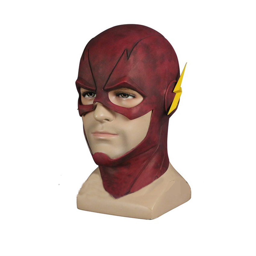 The Flash Mask Silica gel mask Justice League Mask Cosplay Mask