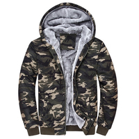Sudaderas Hombre Sweatshirt Men Camouflage Hoodies Tracksuits Thick Velvet Fleece Camo Coat Mens Hoodies Sweater Jacket
