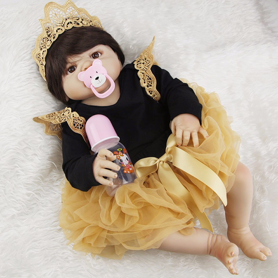 Hot Sale Full Silicone Vinyl Body Reborn-Boneca So Truly Princess 23 inch Baby Girl Babi ...