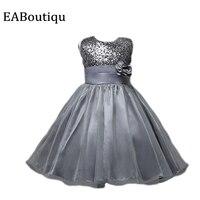 Plus Couleur Élégante De Mode de Haute qualité belle paillette Soie Maille Fleur filles robes de soirée de mariage robes avec bow détail
