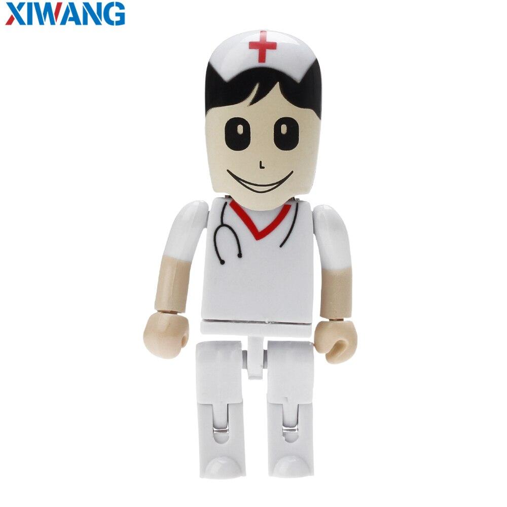 Image 5 - Новый мультяшный флеш накопитель робот Доктор модель медсестры USB 2,0 флэш накопитель 128 Гб 64 ГБ 32 ГБ 16 ГБ 8 ГБ 4 ГБ зубной USB флэш накопитель-in USB флэш-накопители from Компьютер и офис