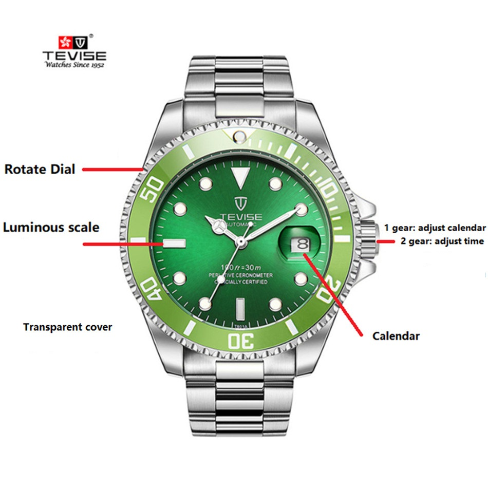 oris watch men dial image mens brown watches aquis automatic green s leather