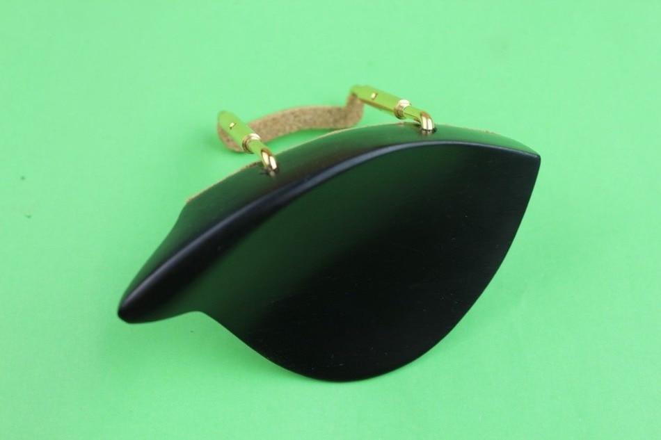1 Pc Natural Ebony 4/4 Violin Chin Rest + Silver Screw, Violin Parts Accessories