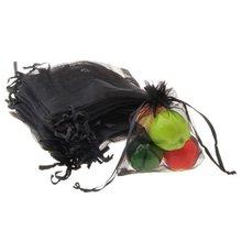 Т-Лучшая цена 60 x органзы шнурок ювелирные изделия Подарочная сумка черный горячий