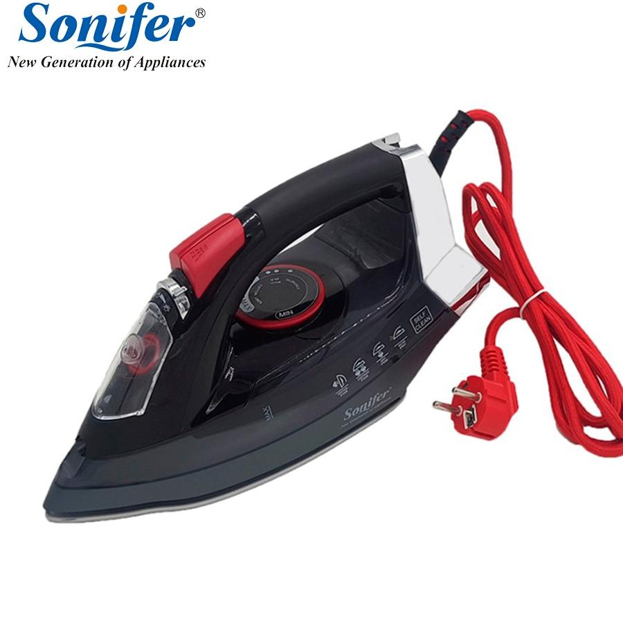 2200 Вт оригинальный бытовой портативный Электрический паровой утюг для одежды Высокое качество керамика soleplate три шестерни Sonifer