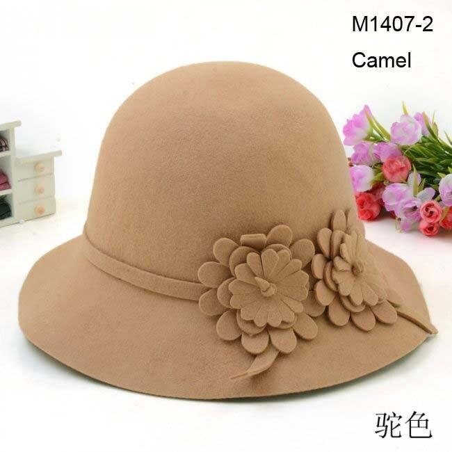 Wholesale 6pcs/lot 2017 Beautiful Women Winter Wool Cloche Hats Fedora Hat Ladies Fall Dome Woolen Caps Womens Spring Felt Cap