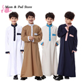 2017 Moda Novas Crianças Roupas Crianças Usam Vestes Muçulmanas Roupas Juventude Hui Trajes Étnicos