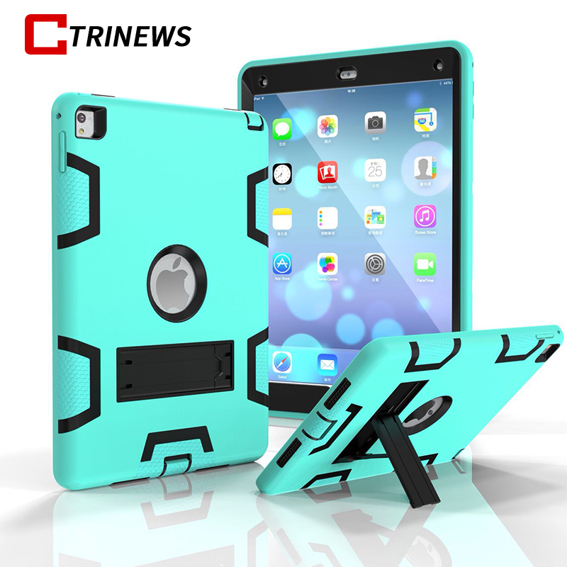 CTRINEWS Shockproof Case For iPad Air 360 Full Body Cover Silicone Hybrid Armor Protective Case For iPad Air 1 Tablet Cases ctrinews for ipad air 1 case clear transparent soft tpu silicone back case for apple ipad 5 air 1 tablet pc protective cover