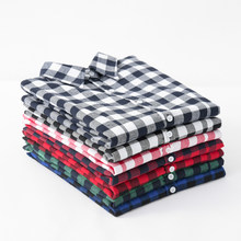 Women's Shirt 2019 New Fashion Female Classic Style Blouses Long Sleeve Flannel Plaid Shirt Casual Plus Size Office Tops Blusas(China)