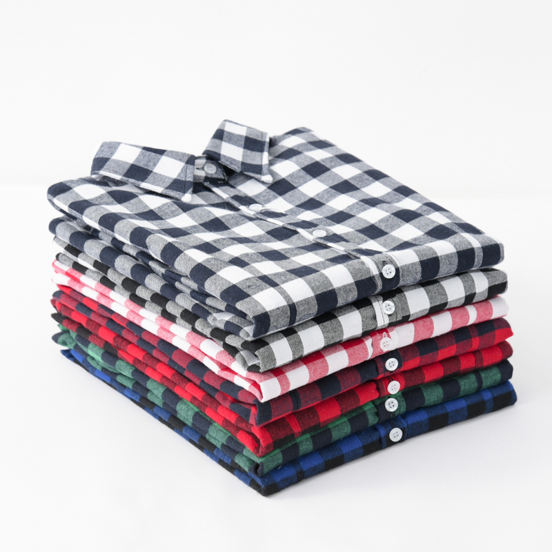 Women's   Shirt   2019 New Fashion Female Classic Style   Blouses   Long Sleeve Flannel Plaid   Shirt   Casual Plus Size Office Tops Blusas