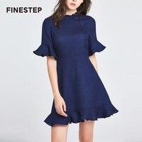 Для женщин плиссированное платье 2018 дизайнерский бренд класса люкс женское платье Высокое качество пикантные синие плиссированное платье