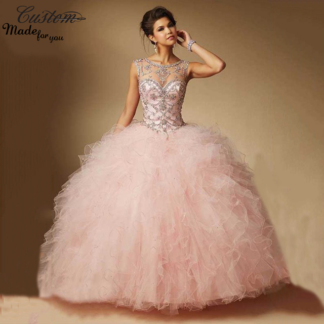 a84e890a2db light pink quinceanera ruffle dresses – Fashion dresses