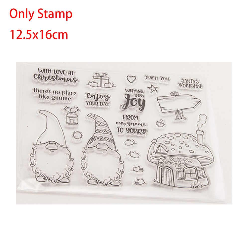 Sellos enanos de Navidad y troqueles de corte de Metal plantillas de Scrapbooking repujado para manualidades DIY álbum de fotos tarjetas decorativas hechas a mano