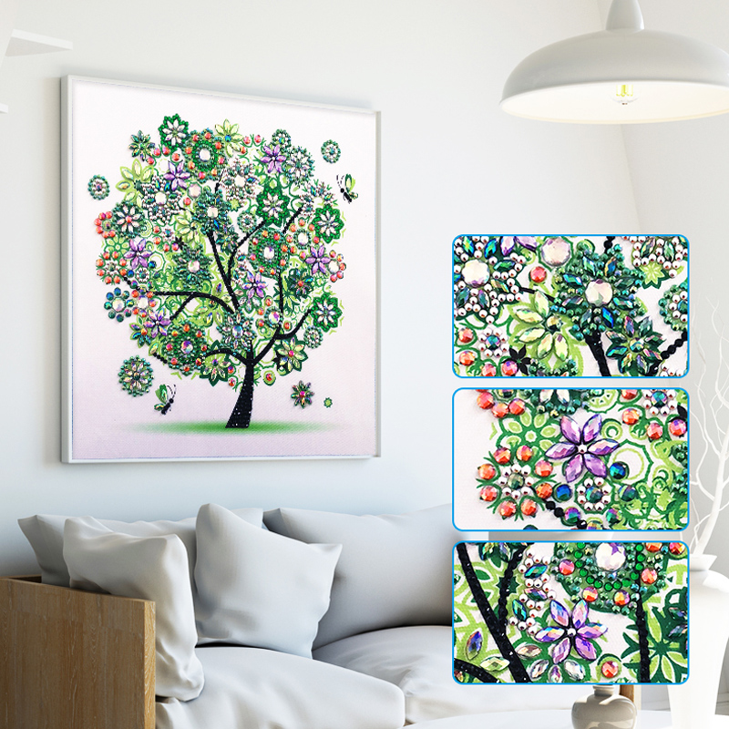 RUBOS DIY 5D Diamond Embroidery Colorful Tree Butterfly Bead Diamond Painting Cross Stitch Pearl Crystal Sale Hobby Gift Decor (9)
