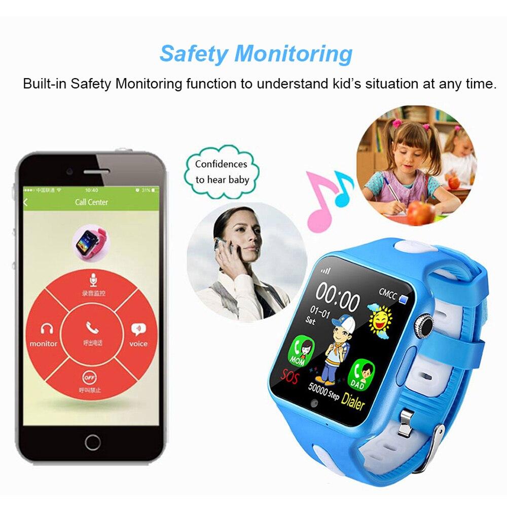 Montre intelligente enfants V5K enfant bande GPS piste Sport enfant Smartwatch étanche Support carte SIM caméra sécurité téléphone bébé montres - 6