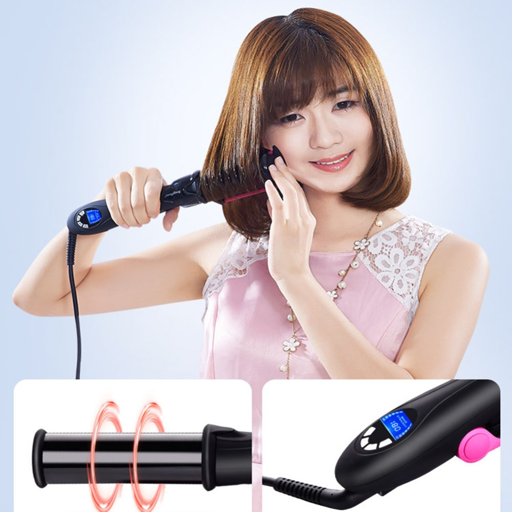 Professional Hair Straightening Iron Curling Style 2 in 1 Without The Damage Hair Straightener Flat irons Hair Styling Tool PN34