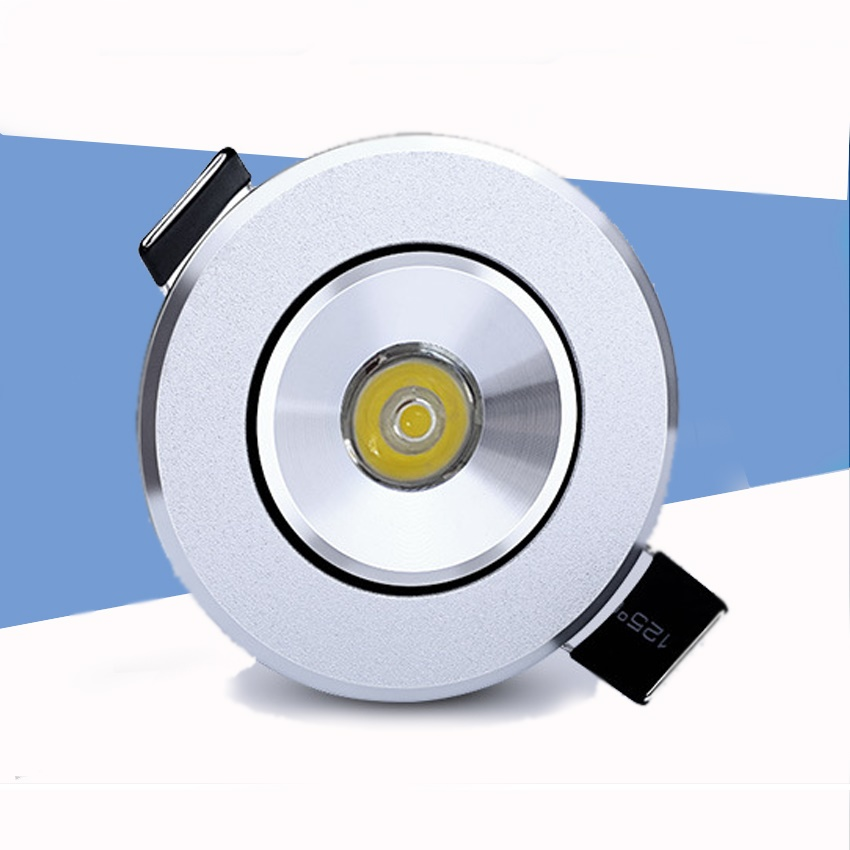 10 pièces Intérieur extérieur 110 v 220 v blanc Mini plafond LED spot light lampe dimmable 1 w mini LED downlight dimmable