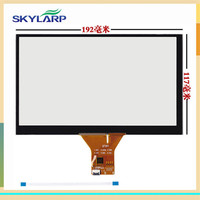 New 8 Capacitive Touch Panel 192x117mm For 1024x600 GPS Android Handwriting Screen Touch Panel Glass Free