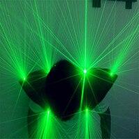 T22 Ballroom dance laser man projector green light laser beams vest dj red glasses stage wears shoulder cosplay costumes disco