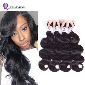 4 Bundles Body Wave Brazilian Hair Weave Bundles Natural Black Lot Tissage Bresiliens Body Wave Cheap Human Hair Bundles(China)