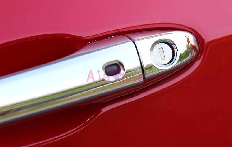2017 2019 хром автомобильный Стайлинг дверная ручка крышка Накладка Подрезка Панель рамка с умным отверстием для Аксессуары для Jeep Compass