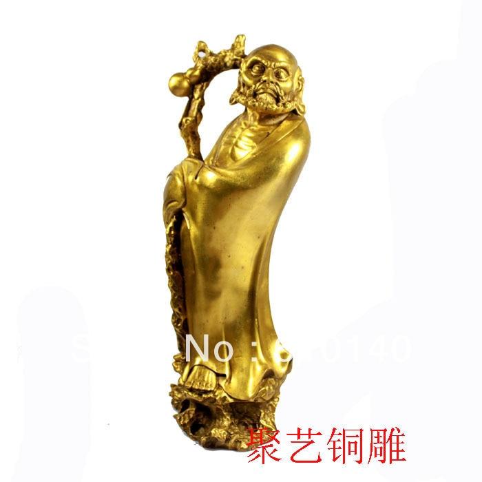 Bronze Sculpture, Damocles Copper Decoration Derlook Buddha Crafts Bronze Statue Copper