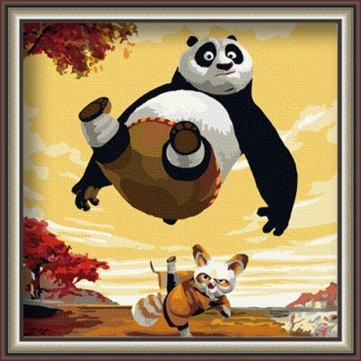 Diy digital oil painting digital cartoon animal decoration oil painting 30