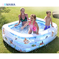 Детский бассейн для домашнего использования  надувной квадратный бассейн большого размера для сохранения тепла