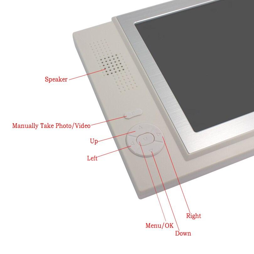 JERUAN 8 inch LCD screen video doorphone recording doorbell monitor intercom system Mteal IR pinhole Camera FREE SHIPPING