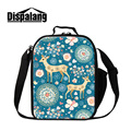 Dispalang deer cartoon painting packed lunch bag for women novelty design thermal cooler lunch bags insulated picnic storage box