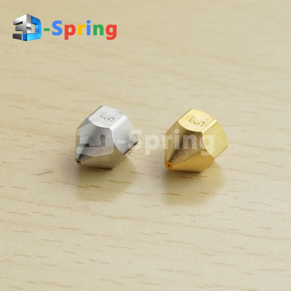 M6 Internal Thread Nozzle 0.2 0.4 0.8mm Bore 4.1mm M6*1 M6*0.75 Copper (NOT Brass) Stainless Steel For Blantyre Era Print Head