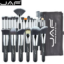 JAF 24pcs Makeup Brushes Tools 100% Vegan Make Up Artist Kit Brushes for Makeup Professional Brush Set #J2425YC-B