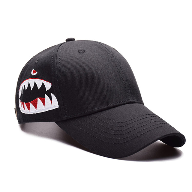 8c38896cee8 2018 High Quality Shark Embroidery Baseball Cap Trucker Hat Snapback Fashion  Sports Hats For Men   Women Caps wholesale