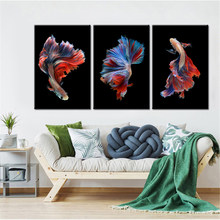 Abstract Dier Betta Vis Canvas Hd Prints Pictures Wall Art Posters Schilderijen Home Decor Voor Woonkamer Appartement Kader