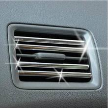 HUANLISUN 1metres U Style Chrome Decoration Strip Silvery car styling Car Interior Air Conditioner Vent Grille