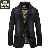 AFS JEEP Brand 2017 Denim Jacket Men Single Breasted Turn Down Collar Jeans Coat Male Jaqueta