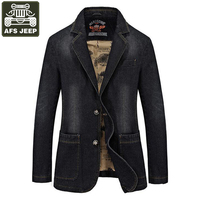 AFS JEEP Brand 2017 Denim Jacket Men Single Breasted Turn Down Collar Jeans Coat Male Jaqueta