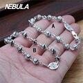 100% Genuine 925 Sterling Silver Vintage Punk Link Bracelet Thai Silver Jewelry for Man or Women
